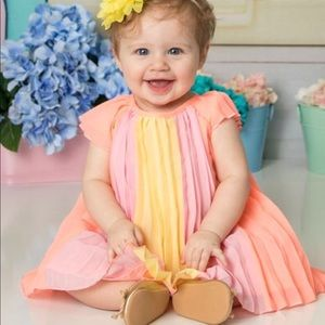 Children's Place Infant Girls Accordion Dress